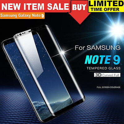 3D Full Coverage Tempered Glass Screen Protector for Samsung Galaxy Note 9