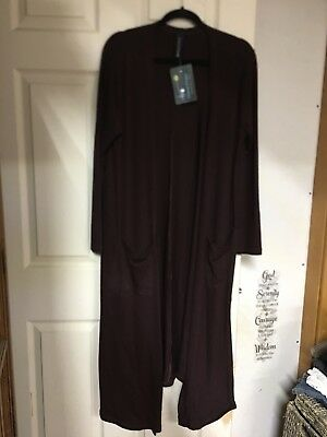 Charlies project long soft Duster Sweater Chocolate brown (like LLR Sarah) L/XL