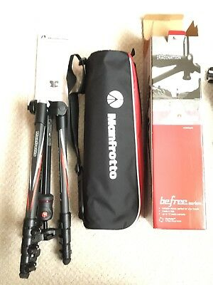 Manfrotto Befree Carbon tripod with Ball Head - Hardly Used