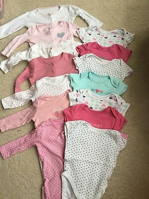 Baby Girl Sleepsuit And Vest Bundle 6-9 Months