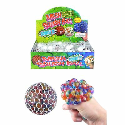 Jelly Bead Squeezy Mesh Ball Anti Stress Relief Stressball Sensory