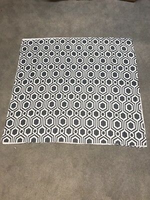 Grey shiny silver pattern soft blackout material remnant crafts fabric 110x105cm