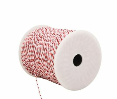 New 500m Polywire Roll Electric Fence Energiser Poly Wire Tightly Wound Antirust
