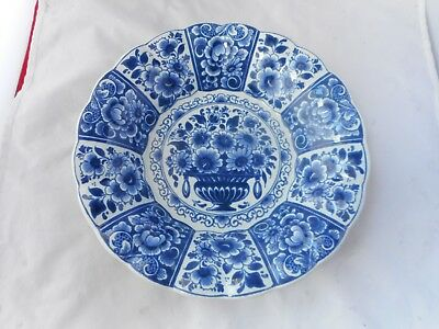 DELFT BOWL STYLE WALL PLAQUE(23cms diameter)
