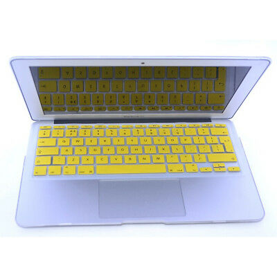Yellow UK EU model New Silicone Keyboard Skin Cover For MacBook Air 11""
