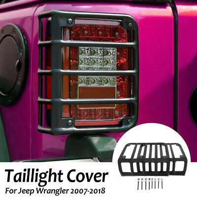 Taillight Light Protective Cover Guard Rear Bracket For 2007-2018 Jeep Wrangler