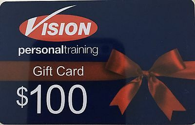 5x $100 Vision Personal Training Gift Cards. No Time Limit To Use. $500 Value.