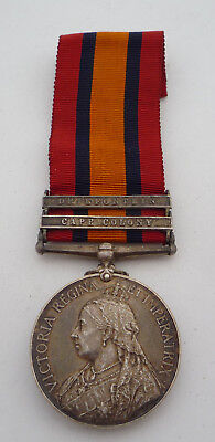 Queens South Africa Medal 2 Clasps - Coldstream Guards Casualty Dod Ghost Dates