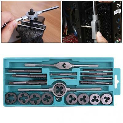 20pcs Alloy Steel Tap & Die Set External Thread Cutting Tapping Hand Tool Kit
