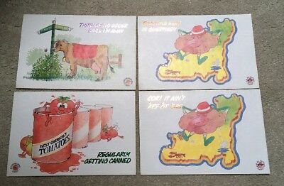 4 Amusing Horticultural Guernsey Cards Published by Ile de Jersey