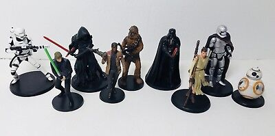 Star Wars Disney 9 Collectible Figures Lot ANH ROTJ TFA