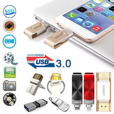 Eaget 2 in 1 Type-C USB 2.0 Dual Interface OTG Function Pendrive Flash Drive