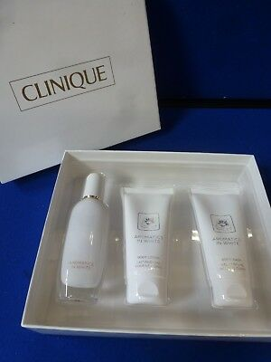 "Clinique ""Aromatics in White"" Essentials - Eau de Parfum, Body Lotion & Body Was"