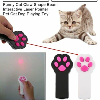 Funny Cat Claw Shape Beam Interactive Laser Pointer Pet Cat Dog Playing Toy XR
