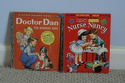 Little Golden Books Dr. Dan the Bandage Man with Band-Aids! and Nurse Nancy