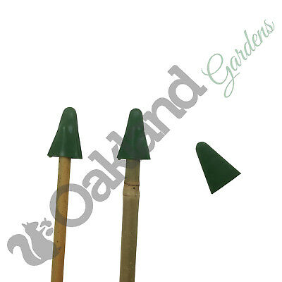 50 x  Triangle Rubber Garden Cane Caps Protectors Toppers Eye Protection Bamboo