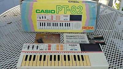 Vintage Casio PT-82 Keyboard Casiotone Electronic Portable Synthesizer