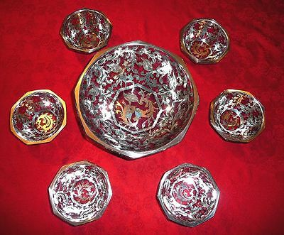 Vintage Crystal And Silver Dinner Service - Spada - Italy
