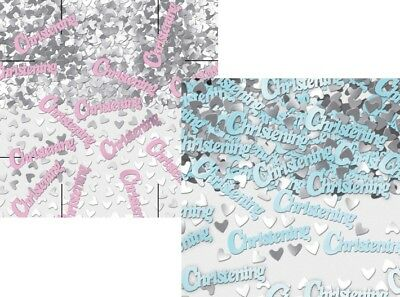 5 x Packs Baby Girl Pink Boy Blue Christening Table Confetti Party Decorations