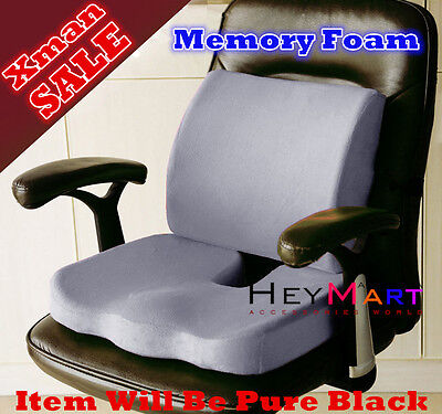 Memory Foam Seat Cushion Lumbar Back Support Orthoped Car Office Pain Relief dd