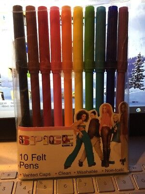 Spice Girls Felt Pens Girl Power Forever 1997 Original In Plastic Sleeve