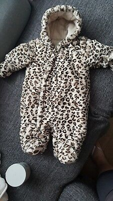 Baby girl snowsuit 3-6 months from Mothercare