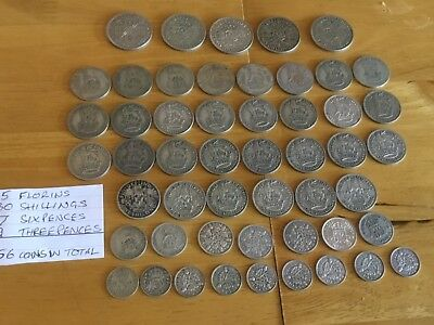 Nice Lot of 1920-1946 .500 Silver UK Coins- 253.90 grams
