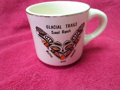 BSA vintage coffee mug Glacial Trails Scout Ranch Buttes area Counsil