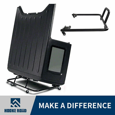 Durable Sliding Hard Top Carrier Storage Cart for 07-18 Jeep Wrangler &Unlimited