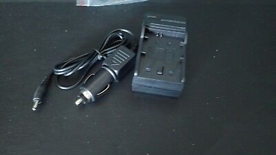 Battery charger for Sony NP-FW50 batteries with DC car adapter