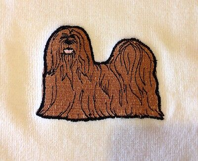 Lhasa Apso, Hand Towel, Embroidered, Custom, Personalized, Dog