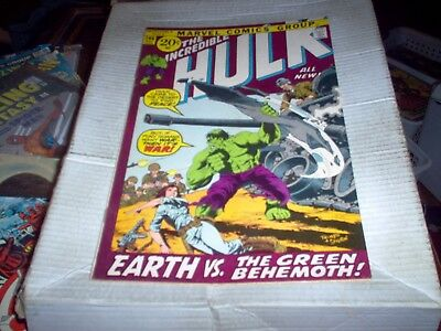 The Incredible Hulk # 146 Trimpe Art Earth Vs The Hulk Issue Look Vf-