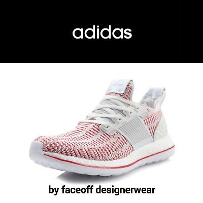 e6ac7dbe2 adidas Men s Pure Boost ZG White Red AQ2926 Limited Edition UK Size 9.5    EU 44