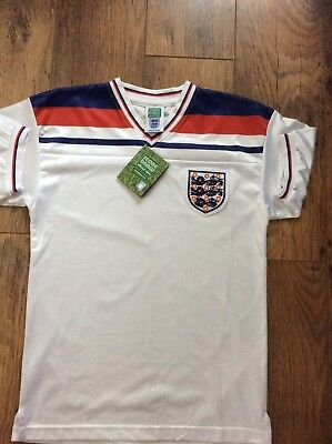 England World Cup 1982 Football Shirt New With Tags Free Postage Size Large