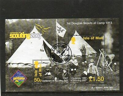 2007 Isle Of Man Centenary Of Scouting Jamboree Very Fine Used Mini Sheet