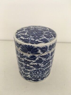 Chinese Blue And White Ginger Jar With Cover Late 19 Th Century