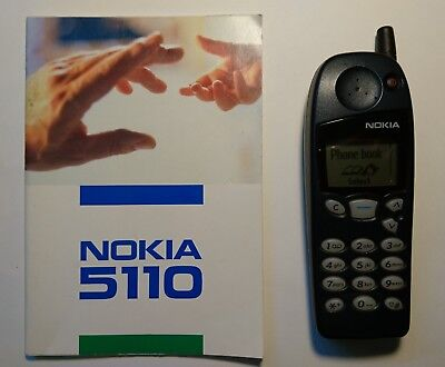 nokia 5110 mobile phone blue with original charger and user guide rh picclick co uk Nokia 2710 USB Cable for Nokia 2760