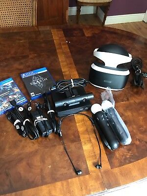 Sony Playstation VR Skyrim Bundle CUH-ZVR2 PSVR Move Controllers PRACTICALLY NEW