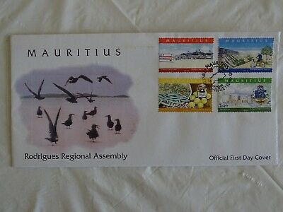 Mauritius first day cover Rodrigues Regional Assembly Date of issue 12-10-2004.