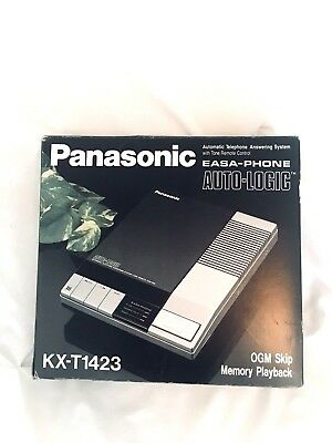 New vintage Panasonic Easa-Phone KX-T1423 Automatic Telephone Answering Machine