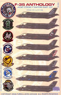Furball Decals 1/72 LOCKHEED MARTIN F-35 JOINT STRIKE FIGTER ANTHOLOGY