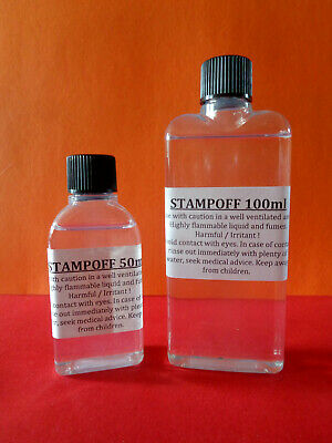 Stamp Removal Fluid multiple listing,1st,2nd class,unfranked,off paper,card,plas