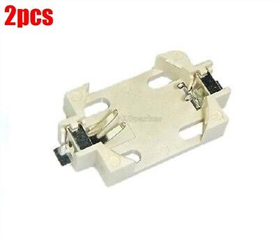2Pcs Smd Pcb Mount CR2032 CR2025 Battery Socket Holder Case New Ic fx