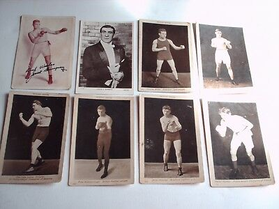 Job Lot Of Antique Boxing Postcards James J Corbett Jack Dempset Beagles Luther