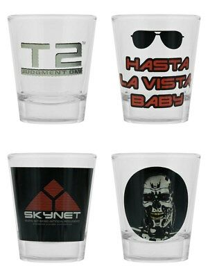 The Terminator 2 Judgement Day Set Of 4 Shot Glasses
