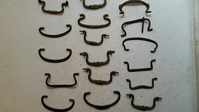 Antique Drawer Pulls Bails Vintage Replacement Lot  of 17  Victorian 19th