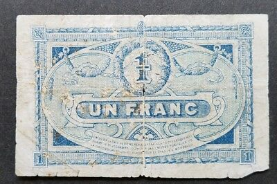 1917 France Un Franc Bank Note 1 Franc  Free Shipping