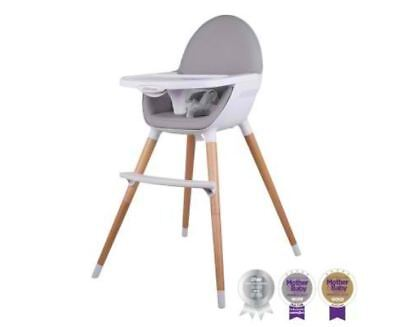 New Pod Timber Highchair Natural Removable And Adjustable Tray Easy To Operate