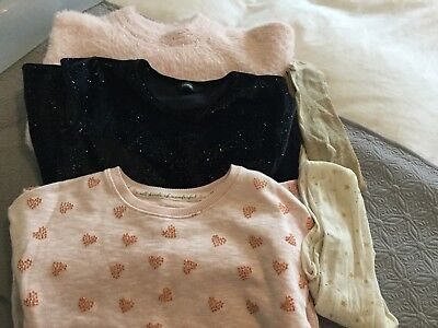 Great Girls Bundle. 8-9 yrs. 5 Preloved Items. Pretty Long Jumper/Sparkle Dress.