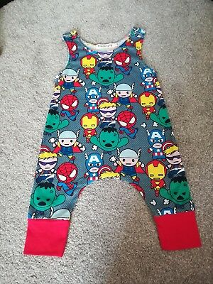 Baby boys 3-6 months superhero rompersuit clothes outfit superman marvel